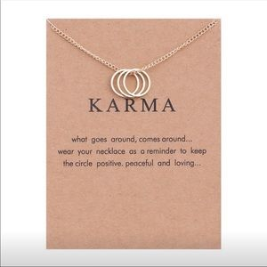 Karma 3 ring necklace in silver or gold